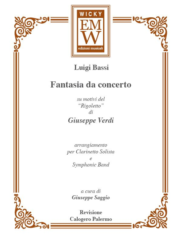 Fantasia Da Concerto Frm Rigoletto Edizioni Musicali Wicky