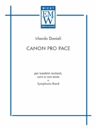 Score and Parts Narrator and Concert Band Canon Pro Pace