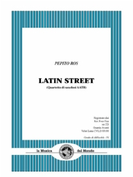Score and Parts Saxophone Quartet Latin Street