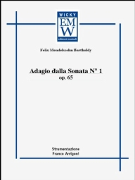 Score and Parts Classical Transcriptions Adagio Dalla Sonata N. 1 Op. 65