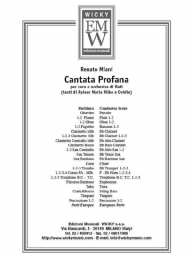 Score and Parts Sacred Music Cantata Profana
