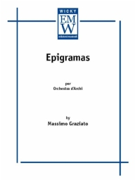 Score and Parts String Orchestra Epigramas