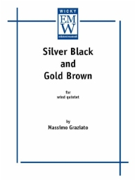 Partitura e Parti Ensemble di legni Silver Black  and  Gold Brown