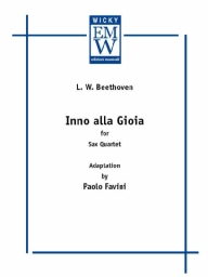 Score and Parts Saxophone Quartet Inno alla Gioia (Hymn to Joy)
