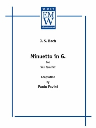 Score and Parts Saxophone Quartet Minuetto in G