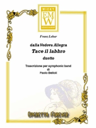 Partitura e Parti Operetta Tace il Labbro (frm The Merry Widow)