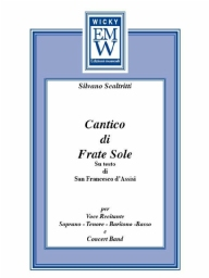 Score and Parts Narrator and Concert Band Cantico di Frate Sole