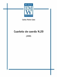 Score and Parts String Quartet Cuarteto de Cuerda n. 20