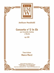 Score and Parts Soloist & Concert Band Concerto n° 2 in Mib Op. 198