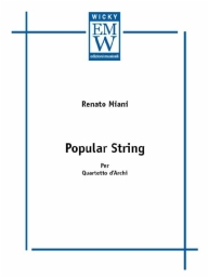 Partitura e Parti Quartetto d'archi Popular Strings