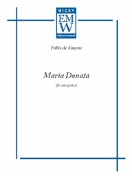 Score and Parts Guitar & harp Maria Donata