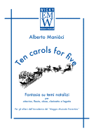 Score and Parts Ensemble di legni Ten carols for five